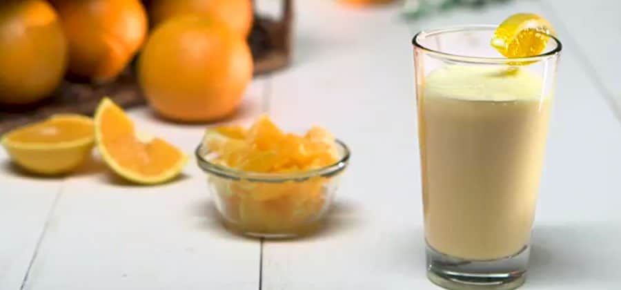 שייק תפוז עם חלבון עשיר בוויטמין C