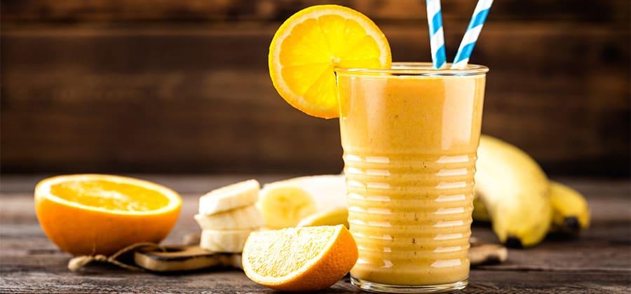 שייק תפוז ובננה