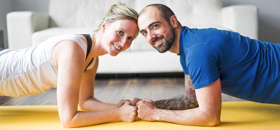 עבודה משותפת על יעדי הכושר עשויה להשפיע גם על מערכת היחסים הזוגית