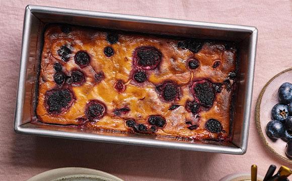 עוגת ריקוטה ופירות יער